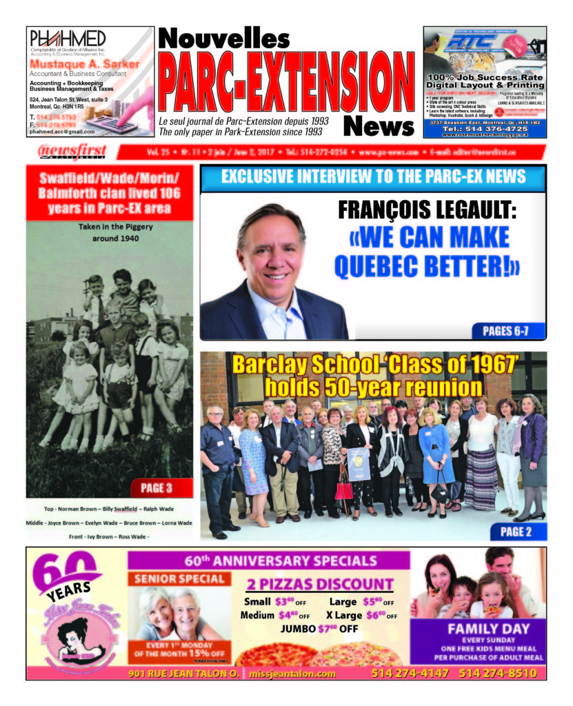 Front page image of the Parc-Extension News Volume 25-12
