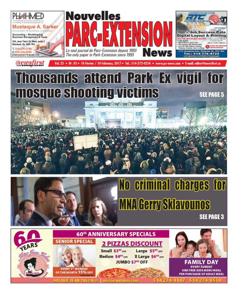 Front page image of the Parc-Extension News Volume 25-3