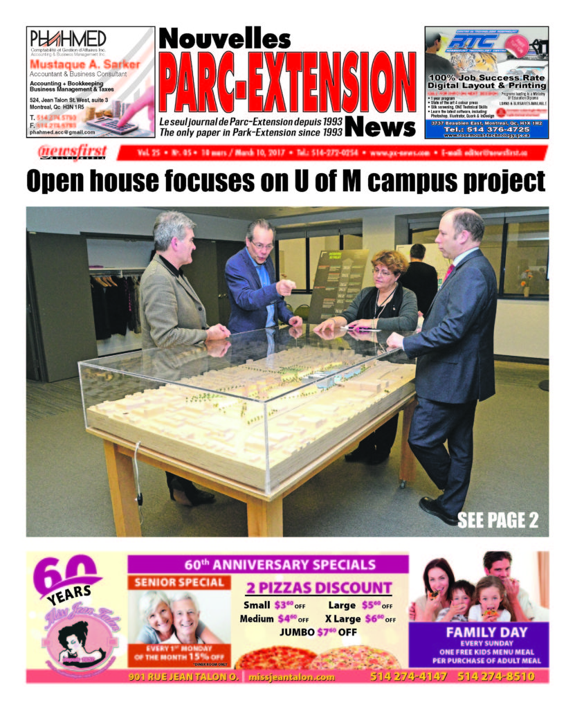 Front page image of the Parc-Extension News Volume 25-5