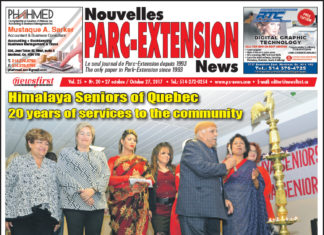 Front Page Image of the Parc Extension News